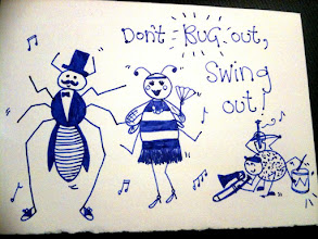 Photo: Sarah's swing bugs are serious flappers!
