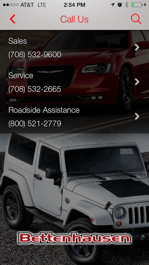 Bettenhausen Chrysler Jeep- screenshot