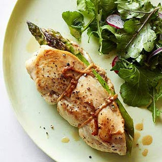 Ham-and-Asparagus-Stuffed Chicken.