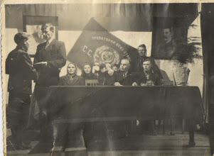 Photo: Вручение грамот. 1953 год