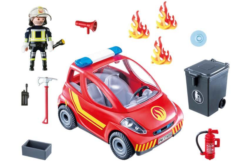 Contenido real de Playmobil® 9235 Coche de Bomberos