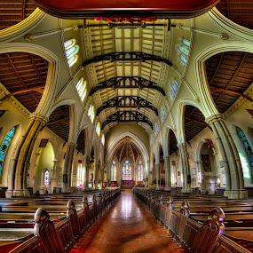 St. James Cathedral II by Roland Shanidze - Buildings & Architecture Architectural Detail ( vertorama, hdr, church, roland shainidze, cathedral st, hames cathedral, anglican church, architecture interior, pwcdetails-dq )