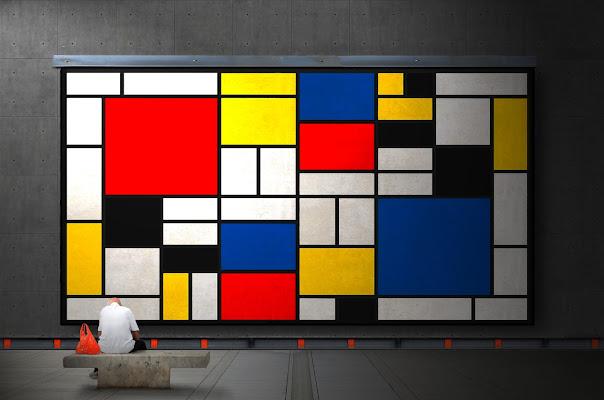 sulle orme di Mondrian di Daniela Ghezzi