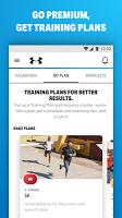 screenshot of Run with Map My Run