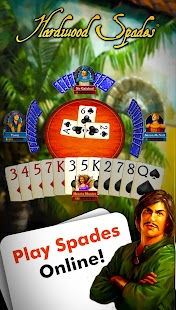 Hardwood Spades Free- screenshot thumbnail
