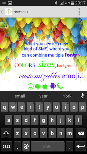 Notepad + Rich SMS