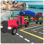 American Truck Car Transporter Icon