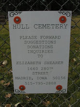 Photo: Hull Cemetery Sign / Luther, Boone Co., Iowa