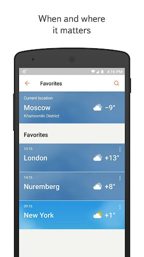Yandex.Weather screenshot 2