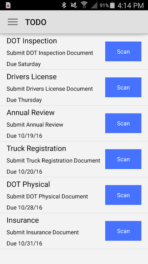 Horizon Transport Mobile- screenshot