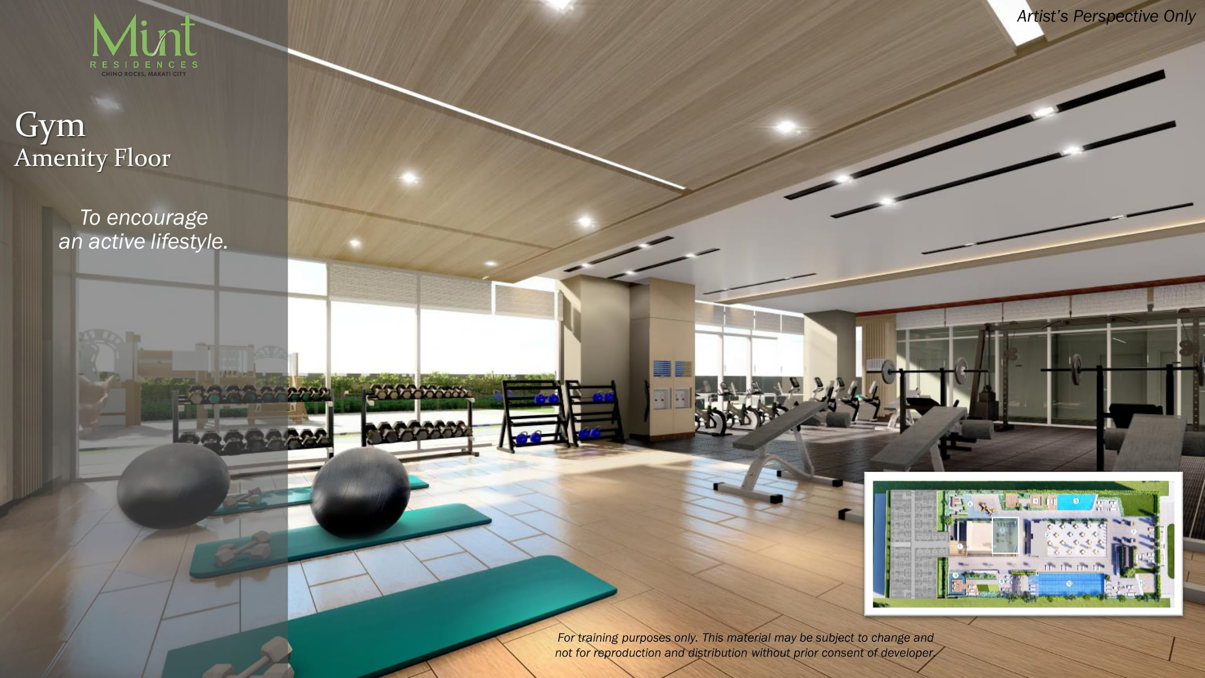 Mint Residences, Chino Roces Makati fitness gym