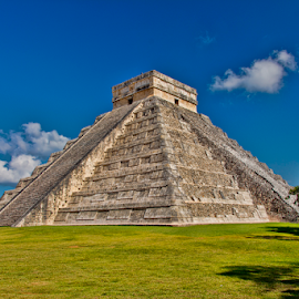 El Castillo or Temple of Kukulcan by Steve Rogers - Buildings & Architecture Public & Historical ( seven wonders, pyramid, temple, 7 wonders, ancient, yucatan, mayan )