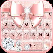 Rose Gold Luxury Bow Keyboard Theme