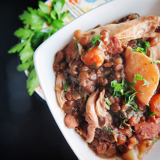 Sumac Chicken with Lentils.