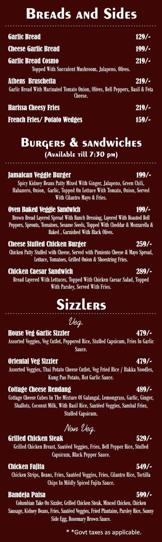 Amuse Resto Bar menu 2