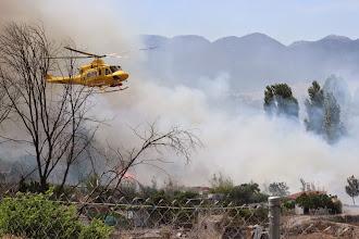 Photo: Incendio en Cehegín (las hoyas del río frente a Cofrutos). Helicóptero del 112 Región de Murcia