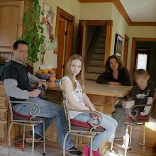 Photo: title: Jen Dutton, Jeff, Zoe, Cass Swenson, Garrettsville, Ohio date: 2013 relationship: friends, met at the Tree Cafe years known: Jen 20-25, Jeff 0-5