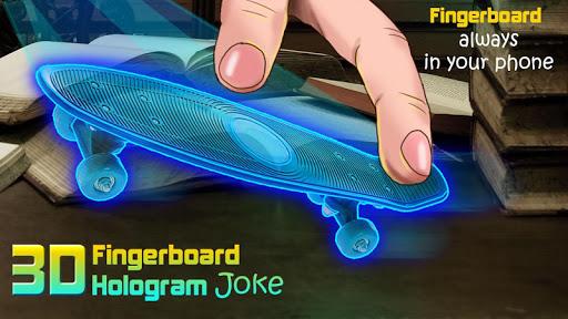 指の3Dホログラムジョーク