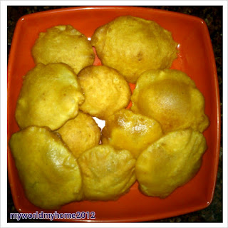 Potato Bajjis/Potato Fritters.