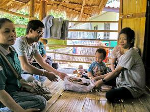 Photo: Huai Mae Kiang village house call with Kanda (healthcare worker) and Wi.