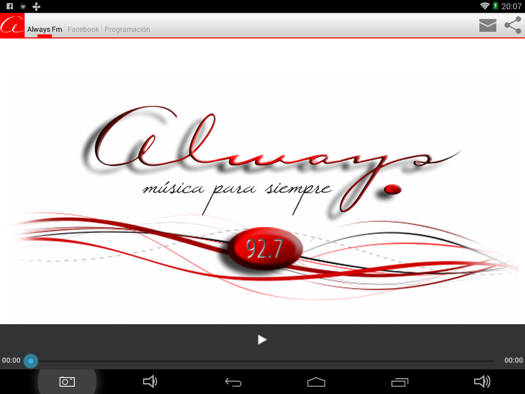 Fm Always (92.7 Mhz): captura de pantalla