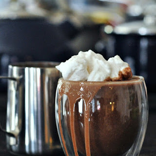 Cashew Hot Cocoa with Cinnamon Whip and Double Chocolate Mug Cake