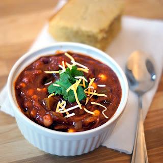Easy Vegetarian Chili and Cornbread.