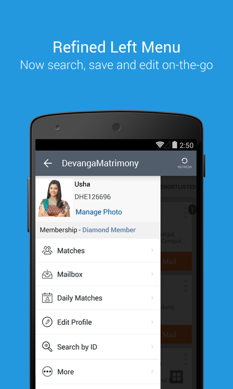 DevangaMatrimony - The No. 1 choice of Devangas- screenshot