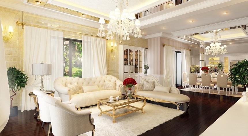 thiết kế nội thất chung cư phong cách Châu Âu