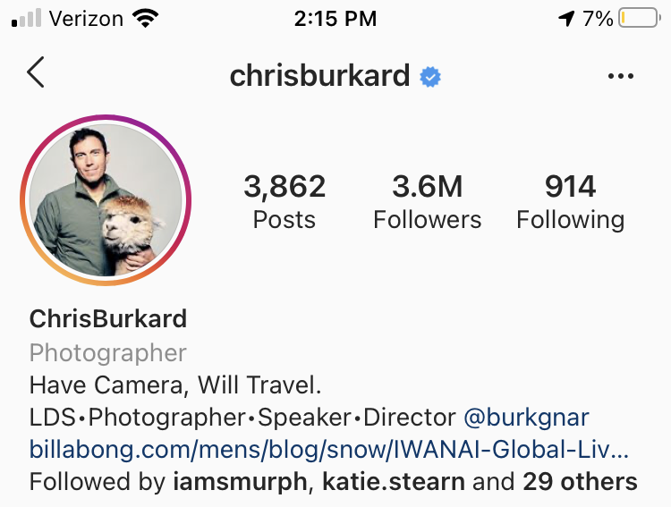 chrisburkard travel account