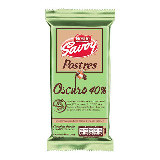 chocolate savoy postres oscuro 40% 200gr