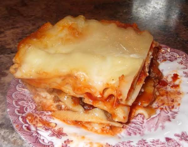 Baked Three Cheese Lasagna Recipe