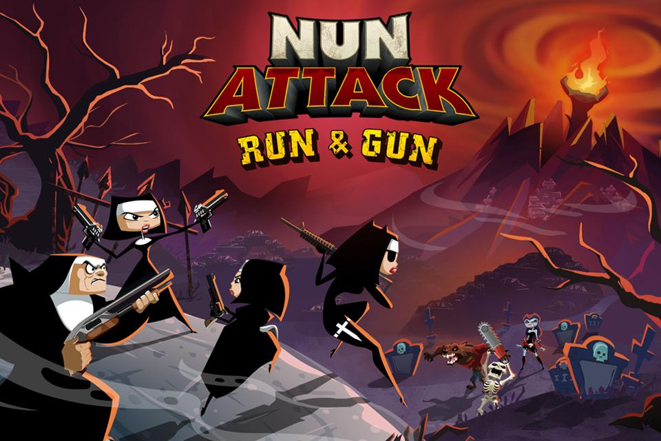 Nun Attack: Run & Gun- screenshot