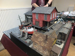 Photo: 005 Crabbie's Boatyard, a very nicely made diorama or section of a layout seen at the 0n30 part of the 7mm NGA stand .