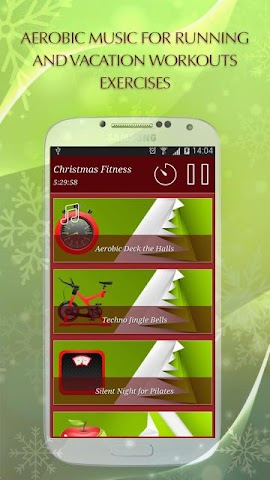 android Christmas Fitness Holidays Screenshot 0