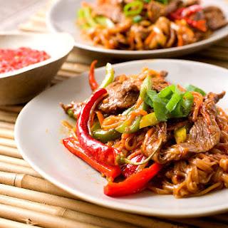 Szechuan Beef Noodles.