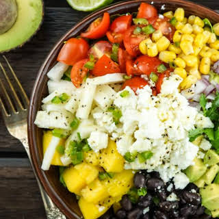 Mexican Chopped Salad with Honey Lime Dressing.