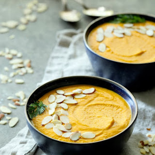 Spicy Indonesian Vegan Carrot Almond Soup.