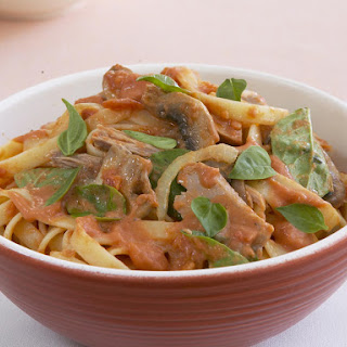 Spicy Tomato and Tuna Pasta.