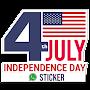 Independence Day USA - Sticker & photo editor