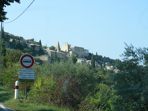 Photo: The days' final stop is Crestet, another picturesque hillside village.