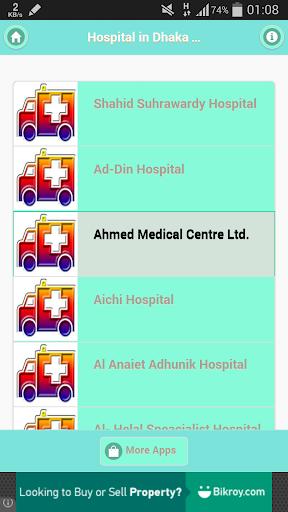 All Hospital in Dhaka City
