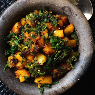 Saag Aloo (spinach And Potatoes).
