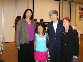 Photo: Anita deFrantz, Scout Bassett, Donna Lopiano,Jacqueline Hansen, at National Girls & Women in Sports luncheon, LA84 Foundation -- 2007.