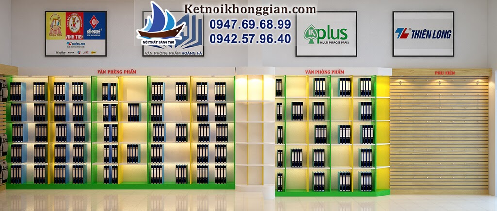 thiết kế hệ thốn nội thất nhà sách