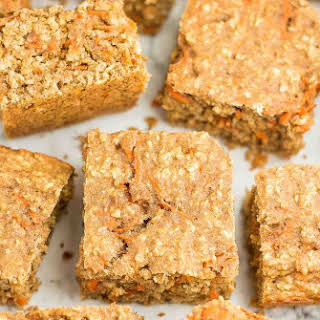 Healthy Carrot Cake Oatmeal Snack Cake.