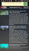 Screenshot of WMBF First Alert Weather