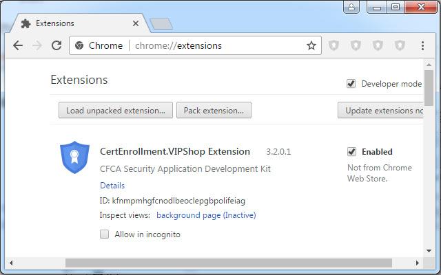 CertEnrollment.VIPShop Extension
