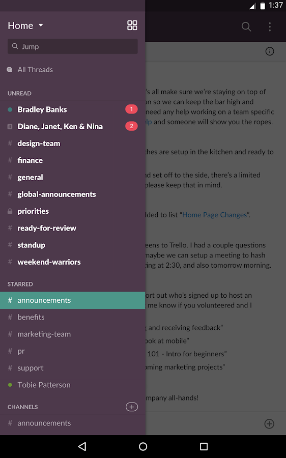 Slack- screenshot