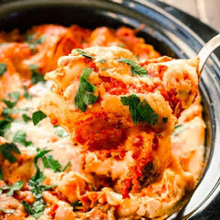 Slow Cooker Lasagna with Ricotta Cheese.